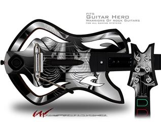 Positive Negative Decal Style Skin - fits Warriors Of Rock Guitar Hero Guitar (GUITAR NOT INCLUDED)