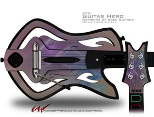 Purple Orange Decal Style Skin - fits Warriors Of Rock Guitar Hero Guitar (GUITAR NOT INCLUDED)