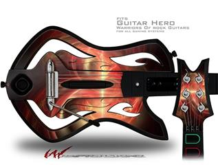 Ignition Decal Style Skin - fits Warriors Of Rock Guitar Hero Guitar (GUITAR NOT INCLUDED)
