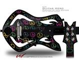 Kearas Peace Signs Black Decal Style Skin - fits Warriors Of Rock Guitar Hero Guitar (GUITAR NOT INCLUDED)