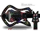 Kearas Flowers on Black Decal Style Skin - fits Warriors Of Rock Guitar Hero Guitar (GUITAR NOT INCLUDED)