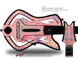 Kearas Flowers on Pink Decal Style Skin - fits Warriors Of Rock Guitar Hero Guitar (GUITAR NOT INCLUDED)