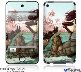 iPod Touch 4G Decal Style Vinyl Skin - Mach Turtle