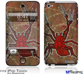 iPod Touch 4G Decal Style Vinyl Skin - Weaving Spiders