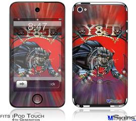 iPod Touch 4G Decal Style Vinyl Skin - Y&T Black Tiger