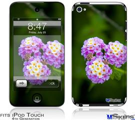 iPod Touch 4G Decal Style Vinyl Skin - South GA Flower