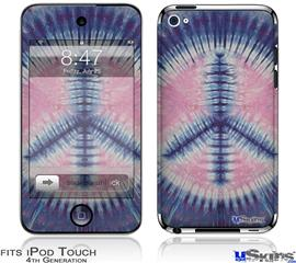 iPod Touch 4G Decal Style Vinyl Skin - Tie Dye Peace Sign 101