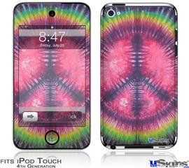iPod Touch 4G Decal Style Vinyl Skin - Tie Dye Peace Sign 103