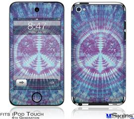iPod Touch 4G Decal Style Vinyl Skin - Tie Dye Peace Sign 106