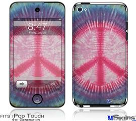 iPod Touch 4G Decal Style Vinyl Skin - Tie Dye Peace Sign 108