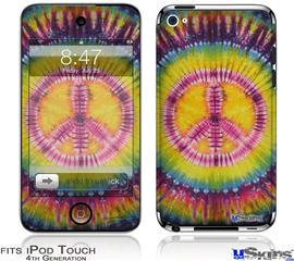 iPod Touch 4G Decal Style Vinyl Skin - Tie Dye Peace Sign 109