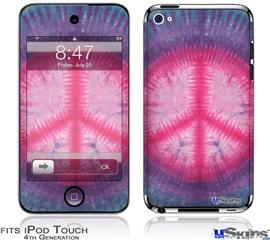 iPod Touch 4G Decal Style Vinyl Skin - Tie Dye Peace Sign 110