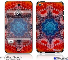 iPod Touch 4G Decal Style Vinyl Skin - Tie Dye Star 100