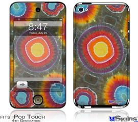 iPod Touch 4G Decal Style Vinyl Skin - Tie Dye Circles 100