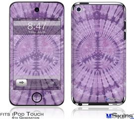 iPod Touch 4G Decal Style Vinyl Skin - Tie Dye Peace Sign 112