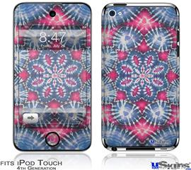 iPod Touch 4G Decal Style Vinyl Skin - Tie Dye Star 102