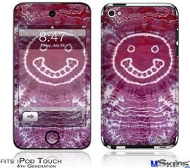 iPod Touch 4G Decal Style Vinyl Skin - Tie Dye Happy 100