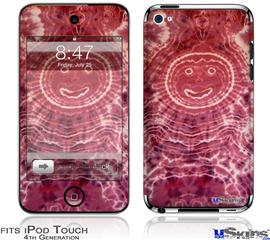 iPod Touch 4G Decal Style Vinyl Skin - Tie Dye Happy 102