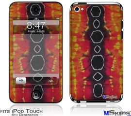 iPod Touch 4G Decal Style Vinyl Skin - Tie Dye Spine 100