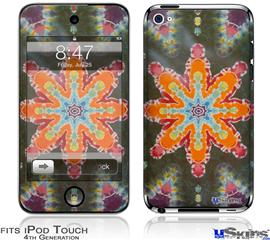 iPod Touch 4G Decal Style Vinyl Skin - Tie Dye Star 103