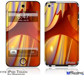 iPod Touch 4G Decal Style Vinyl Skin - Red Planet