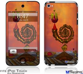 iPod Touch 4G Decal Style Vinyl Skin - The Wizards Table