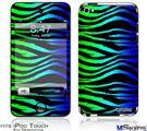 iPod Touch 4G Decal Style Vinyl Skin - Rainbow Zebra