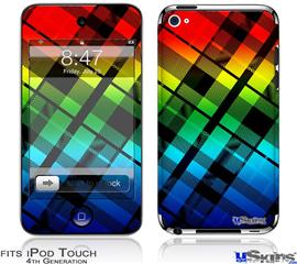 iPod Touch 4G Decal Style Vinyl Skin - Rainbow Plaid