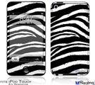 iPod Touch 4G Decal Style Vinyl Skin - Zebra