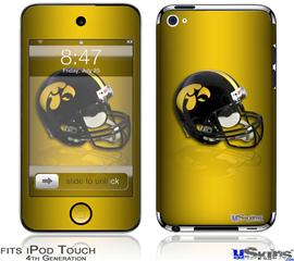 iPod Touch 4G Decal Style Vinyl Skin - Iowa Hawkeyes Helmet