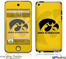 iPod Touch 4G Decal Style Vinyl Skin - Iowa Hawkeyes Herkey Black on Gold