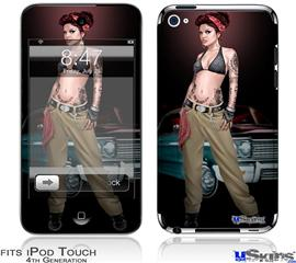 iPod Touch 4G Decal Style Vinyl Skin - Chola Pin Up Girl