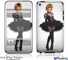 iPod Touch 4G Decal Style Vinyl Skin - Goth Princess Pin Up Girl