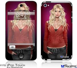 iPod Touch 4G Decal Style Vinyl Skin - Precious Pin Up Girl