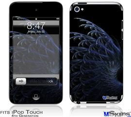 iPod Touch 4G Decal Style Vinyl Skin - Blue Fern