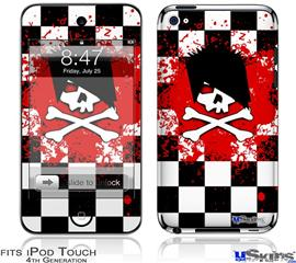 iPod Touch 4G Decal Style Vinyl Skin - Emo Skull 5