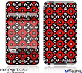 iPod Touch 4G Decal Style Vinyl Skin - Goth Punk Skulls