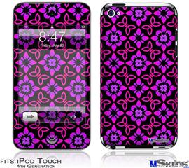 iPod Touch 4G Decal Style Vinyl Skin - Pink Floral