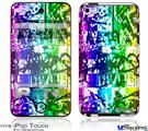 iPod Touch 4G Decal Style Vinyl Skin - Rainbow Graffiti