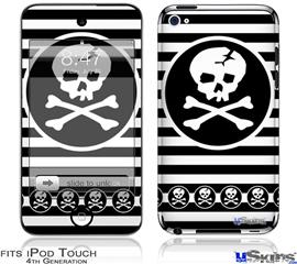 iPod Touch 4G Decal Style Vinyl Skin - Skull Patch