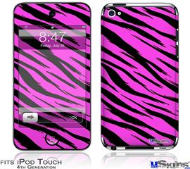 iPod Touch 4G Decal Style Vinyl Skin - Pink Tiger