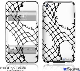 iPod Touch 4G Decal Style Vinyl Skin - Ripped Fishnets