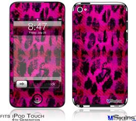 iPod Touch 4G Decal Style Vinyl Skin - Pink Distressed Leopard