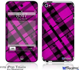 iPod Touch 4G Decal Style Vinyl Skin - Pink Plaid