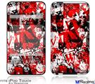 iPod Touch 4G Decal Style Vinyl Skin - Red Graffiti
