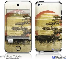 iPod Touch 4G Decal Style Vinyl Skin - Bonsai Sunset