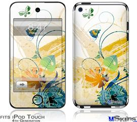 iPod Touch 4G Decal Style Vinyl Skin - Water Butterflies