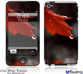 iPod Touch 4G Decal Style Vinyl Skin - Dripping Leaves