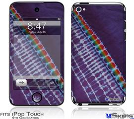 iPod Touch 4G Decal Style Vinyl Skin - Tie Dye Alls Purple