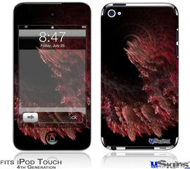 iPod Touch 4G Decal Style Vinyl Skin - Coral2